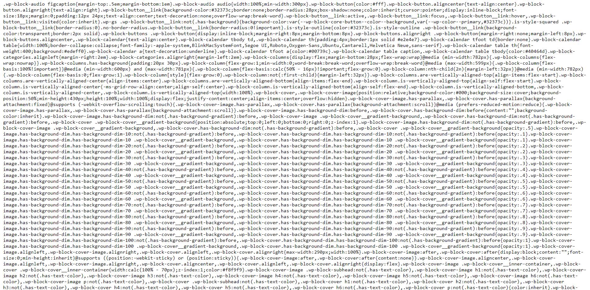 code minifié pour augmenter les performances du site