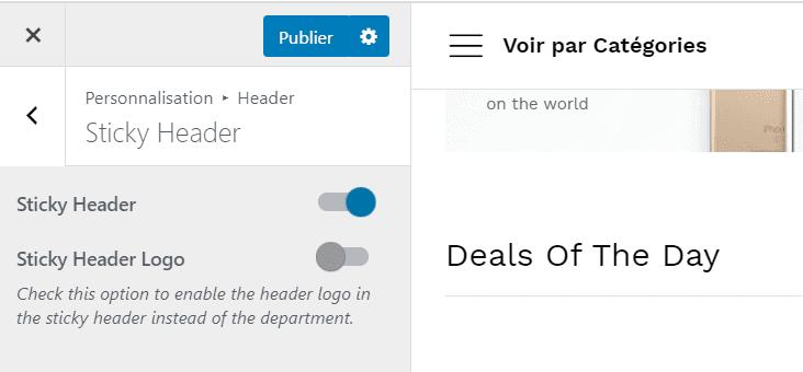 sticky header sans logo