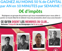 Club privé paris Sportif de Maxence Rigottier