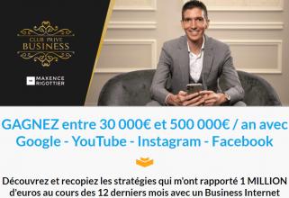Club Privé vivre de son business internet de Maxence Rigottier